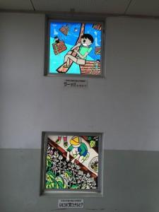 堀川小学校階段ステンド