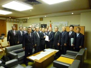 福島県議会議長室訪問